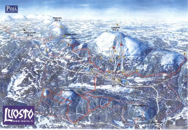 Pyhä-Luosto ski resort map