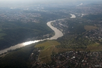Czechia from above: around Prague, Vltava river