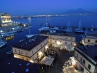 At Castel dell'Ovo, Islet of Megaride - view to gulf of Naples and Mt Vesuvius