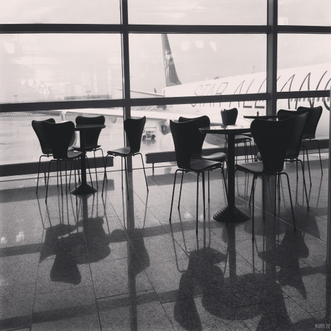 Café at the Frankfurt Airport