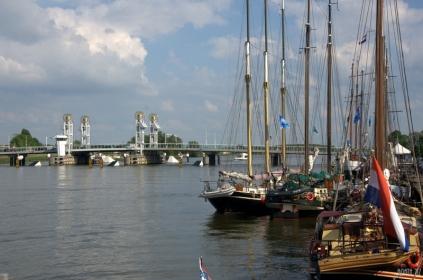 Kampen and river IJssel