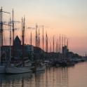 Kampen and river IJssel - sunset, Netherlands