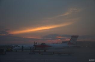 Sunset at Vienna International Airport
