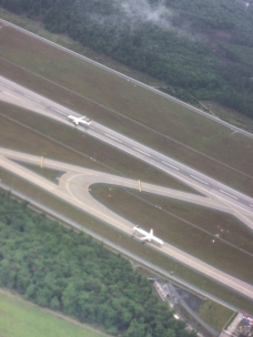 Frankfurt Airport runway from above