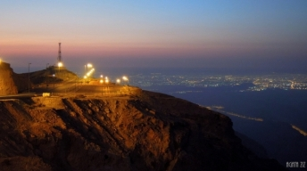 Jebel Hafeet at night