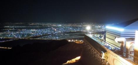 Jebel Hafeet at night