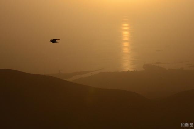 Sunset at Jebel Jais: view to Shaam and Arabian Gulf – Ras al Khaimah, UAE