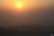 Sunset at Jebel Jais, Arabian Gulf and RAK City
