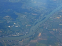 Danube, Slovakia - Hungary border - from above