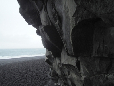Reynisfjara beach from Hálsanefshellir Cave