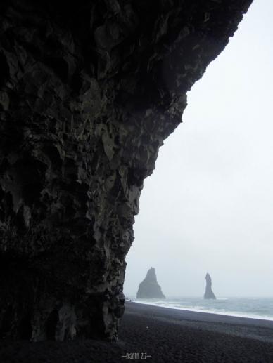 Reynisfjara and Reynisdrangar from Hálsanefshellir Cave