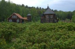 At the Herbal Corner / Ziołowy Zakątek - rose garden and church