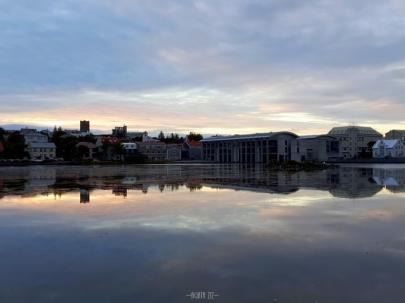 Reykjavík City Hall and Tjörnin lake