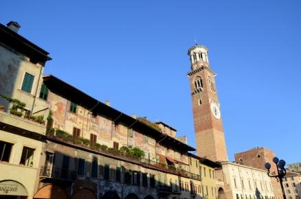Torre dei Lamberti & Piazza delle Erbe - Verona, Italy