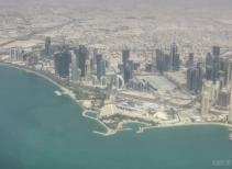 From above: Doha, Qatar