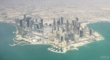 From above: Doha, Qatar
