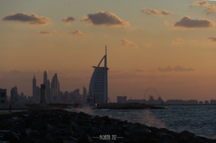 Burj al Arab from Nessnass Beach - Dubai, UAE