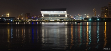 Festival Bay: view to Mohammed bin Rashid Library - Dubai, UAE