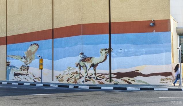 Mural at Dubai Outlet Mall (by Sean and Marlon Moore) - Dubai, UAE