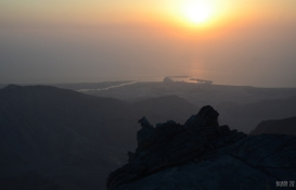 At Jebel Jais: view to Shaam - Ras al Khaimah, UAE