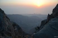 At Jebel Jais: view to Wadi Shaam - Ras al Khaimah, UAE