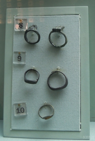 Metal rings (one with an agate stone) - Sharjah, 250 BC-400 AD