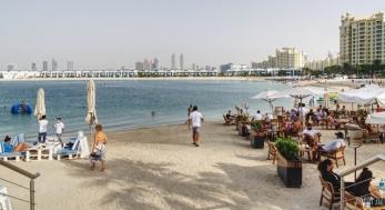 Palm Jumeirah beach - Dubai, UAE